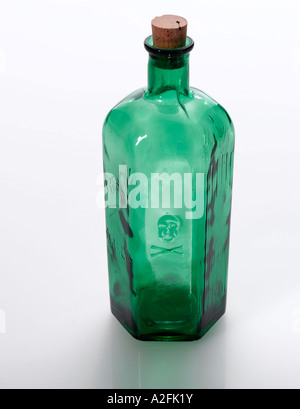 Poison-Bottle, close-up - Stock Photo