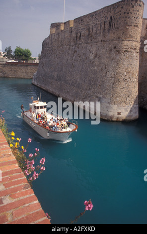 Europe, Spain (in Spanish northern Africa), Ceuta, fortress moat - Stock Photo