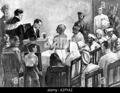 The Great Trial of Mahatma Gandhi India 18 March 1922