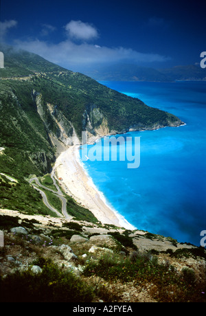 On a Greek Beach Myrtos Kefalonia Greece Europe - Stock Photo