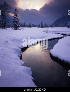 DE - BAVARIA:  Winter near Ettal Stock Photo