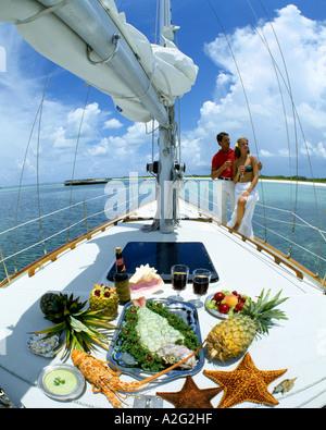 BS - THE BAHAMAS: Sailing off Grand Key - Stock Photo