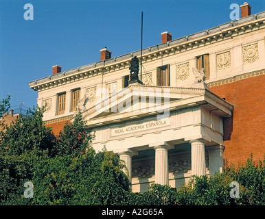 Madrid Spain Real Academia Española Royal Spanish Academy - Stock Photo