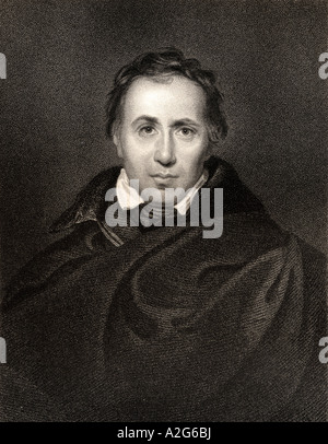 Allan Cunningham 1784 to 1842 Scottish poet and author - Stock Photo
