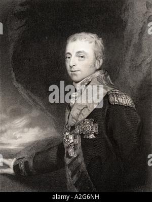Alan Hyde Gardner 2nd Baron Gardner 1772 to 1815 Rear Admiral - Stock Photo