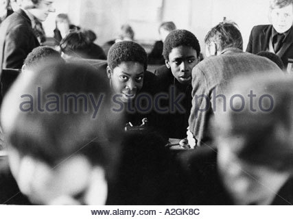 Secondary school children creating chaos in the classroom - Stock Photo