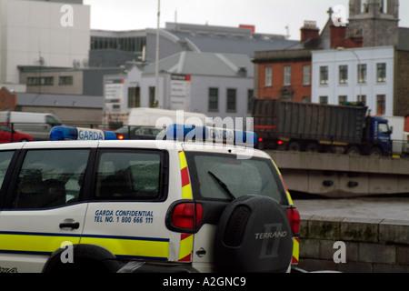 Garda Policecar Dublin Ireland - Stock Photo