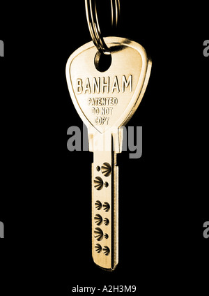 ... Exterior Security; Brass Banham Key. Picture by Patrick Steel patricksteel - Stock Photo & Banham door lock Stock Photo: 41527427 - Alamy