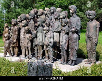 Memorial of Children from Lidice Lidice Central Bohemia Region CR - Stock Photo