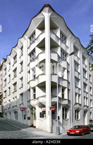Cubistic Building 1911 13 Josef Chochol Neklanova Street Prague Czech Republic - Stock Photo