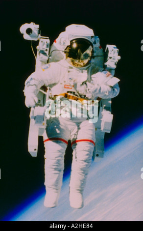 Astronaut in space - Stock Photo