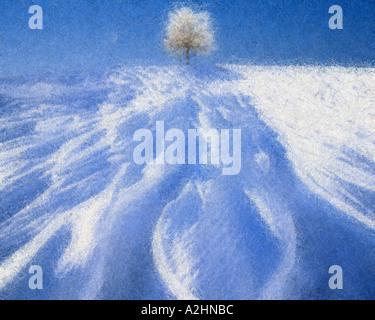 DIGITAL ART: Wintertime of the Four Seasons - Stock Photo