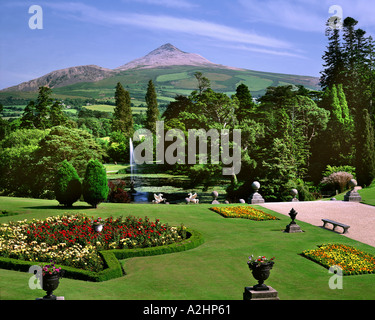 Powerscourt Gardens and Sugarloaf Mountain Co County Wicklow Ireland ...