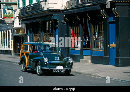 Morris Minor 1000 Traveller of 1959. Model years 1956 to 1971 Norwich Union Classic Car Run 1990. Oxford Start. - Stock Photo