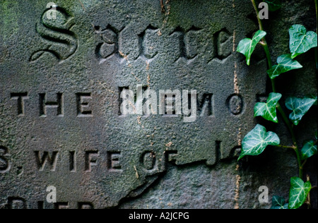 Batheaston Bath  BANES England UK Detail of old gravestone - Stock Photo