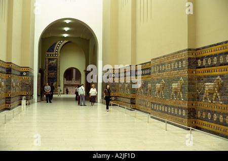 Germany Berlin Pergamon Museum Ishtar Gate - Stock Photo