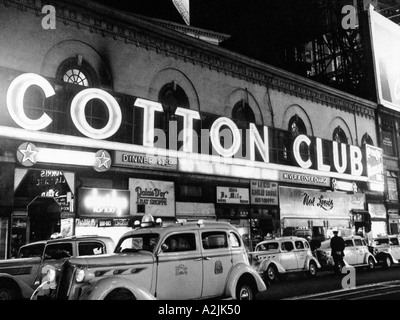 COTTON CLUB in Harlem New York in 1930s - Stock Photo