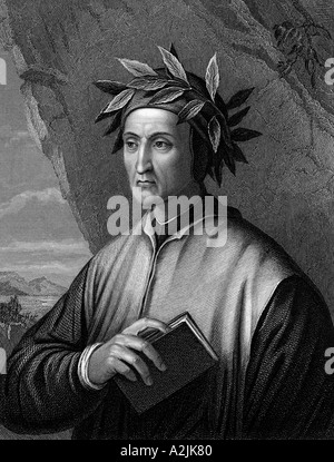 DANTE ALIGHIERI Italian poet - Stock Photo