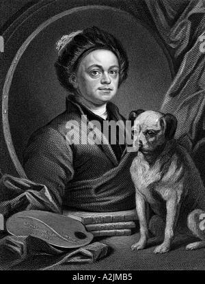 WILLIAM HOGARTH English painter and engraver 1697 1764 - Stock Photo