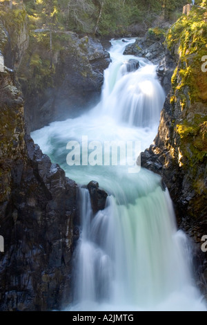 Little Qualicum Falls - Stock Photo