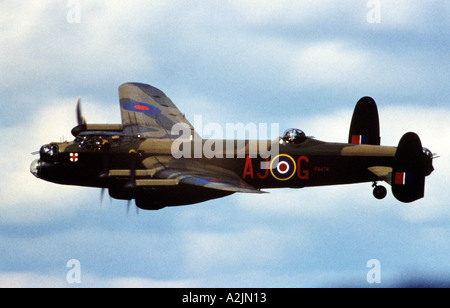 AVRO LANCASTER from the Battle of Britain Memorial Flight - Stock Photo
