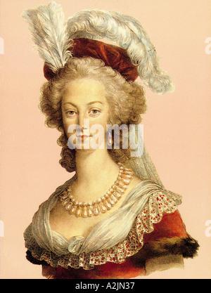 MARIE ANTOINETTE Queen of France 1755 1793 - Stock Photo