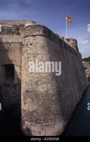 Europe, Spain (in Spanish northern Africa), Ceuta, Royal Walls - Stock Photo