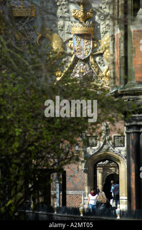 Entrance to St John s College Cambridge - Stock Photo