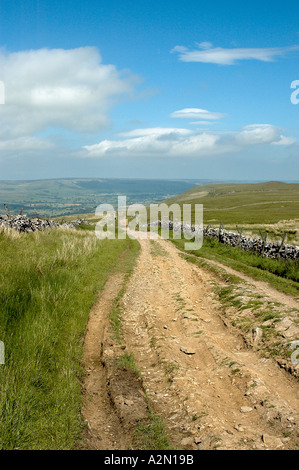 Cam High Road Yorkshire Dales - Stock Photo