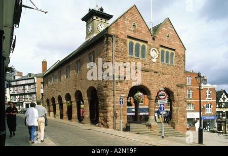 The Market House in the town of Ross on Wye in the county of Hereford and Worcester, England, UK. - Stock Photo