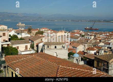 Roofs of Nafplio, Greece - Stock Photo