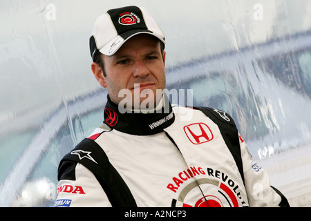 Rubens Barrichello BRA Honda F1 Racing Honda F1 RA106 Launch 25 1 06 Barcelona Spain - Stock Photo