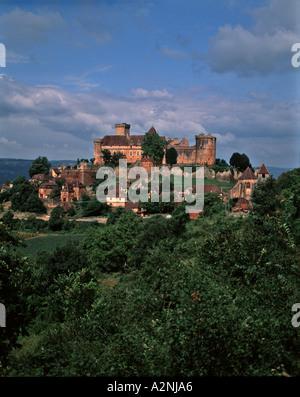 Chateau of Castelnau Bretenoux - Stock Photo