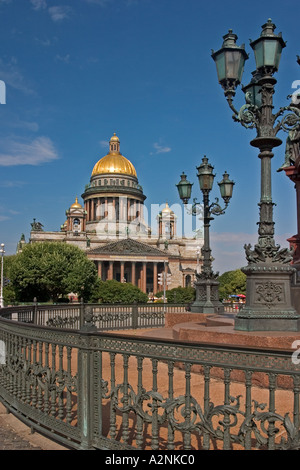 GUS Russia St Petersburg 300 years old Venice of the North Isaak Square with Isaak Cathedrale Architect Auguste - Stock Photo