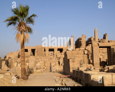 temple of Karnak Luxor Egypt - Stock Photo