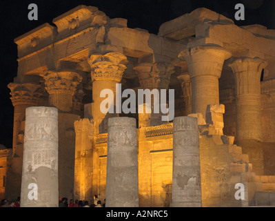 the temple of Kom Ombo Egypt - Stock Photo