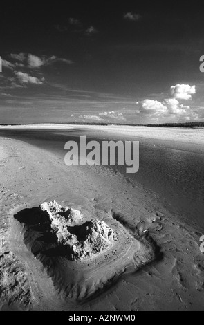 Memories.End of a hot summer's day on Wells beach, North Norfolk, with endless sky and sand - Stock Photo