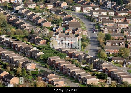 A modern housing estate in Malvern Worcestershire UK - Stock Photo