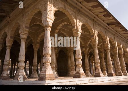 India Rajasthan Jodhpur Maha Mandir the great temple columned exterior - Stock Photo