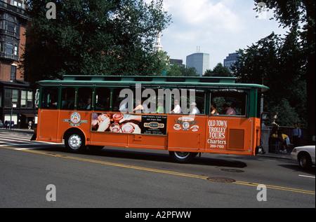 Boston Tour Bus Old Town Trolley Massachusetts New England USA