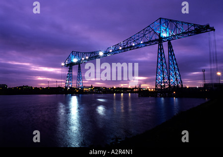 Transporter Bridge Port Clarence Middlesbrough Teesside - Stock Photo