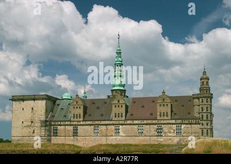 Kronborg Castle of Shalespeare s Hamlet Helsingore Denmark Photo raken from south east - Stock Photo