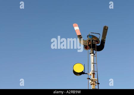 Old rail signals at Strathalbyn Rail Station South Australia - Stock Photo