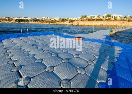 swimming platform base diver  HOUSEREEF house reef riff Sharm El Sheikh EGYPT Om El Sid Plateau - Stock Photo