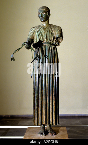 Charioteer Delphi Museum Greek Greece Oracle - Stock Photo