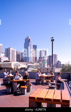 'Victor Steinbrueck' Park Downtown Seattle Washington State USA - Stock Photo