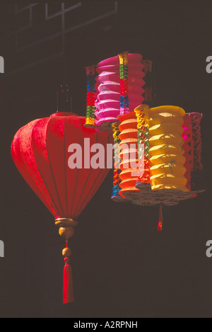 Chinese Lanterns at New Year Festival in Chinatown, Vancouver, BC, British Columbia, Canada - Stock Photo