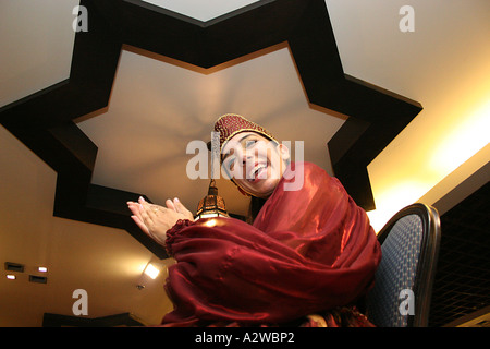 The bride in traditional Moroccan dress at the Henna celebration - Stock Photo