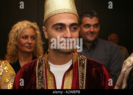 The groom in traditional Moroccan dress - Stock Photo