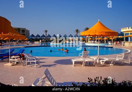 Tunisia the Corinthia Khamsa Hotel in Gammarth near Tunis - Stock Photo